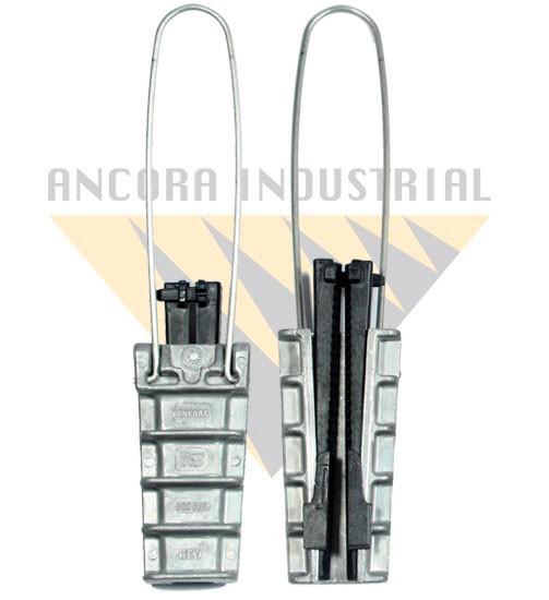 Grampo de ancoragem para fibra optica